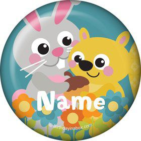 Nature Blue Personalized Mini Button (Each)