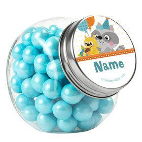 Nature Blue Personalized Plain Glass Jars (12 Count)