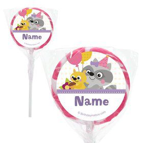 "Nature Pink Personalized 2"" Lollipops (20 Pack)"