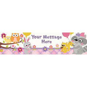 Nature Pink Personalized Banner (Each)