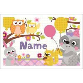 Nature Pink Personalized Placemat (Each)