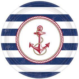 "Nautical 10.5"" Luncheon Plates (8 Count)"