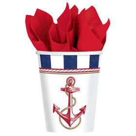 Nautical 9oz Cups (8 Count)