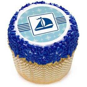 "Nautical Boat 2"" Edible Cupcake Topper (12 Images)"