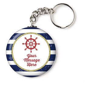 "Nautical Personalized 2.25"" Key Chain (Each)"