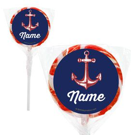 "Nautical Personalized 2"" Lollipops (20 Pack)"