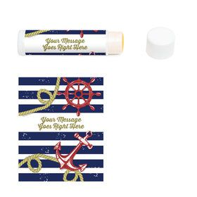 Nautical Personalized Lip Balm (12 Pack)