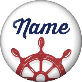 Nautical Personalized Mini Button (Each)
