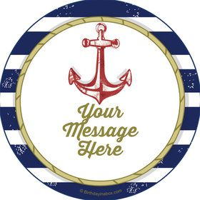 Nautical Personalized Stickers (Sheet of 12)