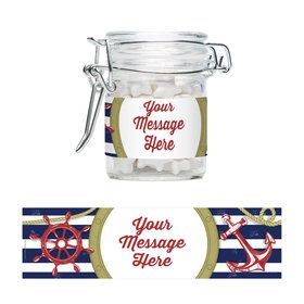Nautical Personalized Swing Top Apothecary Jars (12 ct)