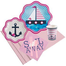 Nautical Pink Party Pack for 8
