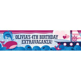 Nautical Pink Personalized Banner (Each)