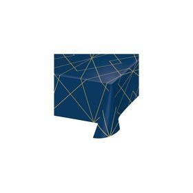 Navy Geode Plastic Table Cover