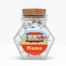 "Neighborhood Tiger Personalized 3"" Glass Hexagon Jars (Set of 12)"