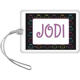 Neon Kitty Personalized Bag Tag (Each)