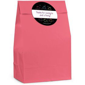 Neon Kitty Personalized Favor Bag (Set of 12)