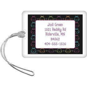 Neon Kitty Personalized Luggage Tag (Each)