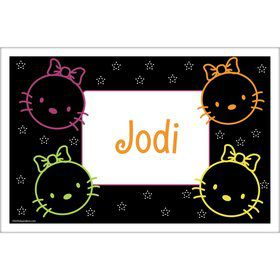 Neon Kitty Personalized Placemat (Each)