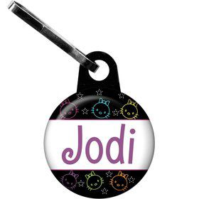 Neon Kitty Personalized Zipper Pull (Each)