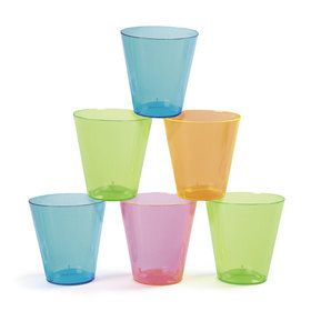 Neon Plastic 2oz Shot Glasses (60 Count)
