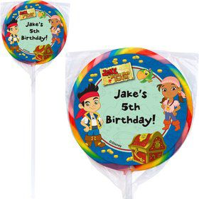 Never Land Pirates Personalized Lollipop (12 Pack)