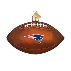 New England Patriots Football Ornament