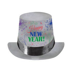 "New Year Jewel Tone 6"" Paper Top Hat (Each)"