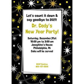New Years Personalized Invitation (Each)