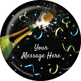 New Years Pop Personalized Button (Each)