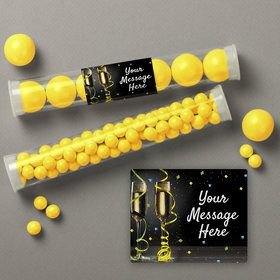 New Years Pop Personalized Candy Tubes (12 Count)