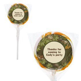 Next Camo Personalized 2#34; Lollipops (20 Pack)
