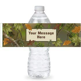 Next Camo Personalized Bottle Labels (Sheet of 4)