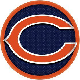 "NFL Chicago Bears 9"" Luncheon Plates (8 Pack)"
