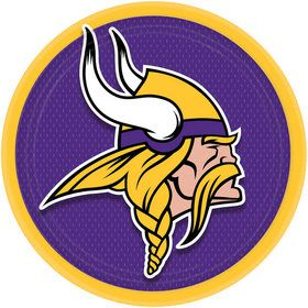 "NFL Minnesota Vikings 9"" Luncheon Plates (8 Pack)"