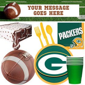 NFL Packers Tailgate Decoration Party Pack (for 16 Guests)