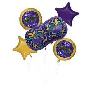 Night in Disguise Masquerade Balloon Bouquet