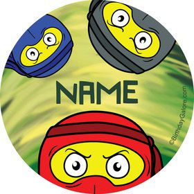 Ninja Master Personalized Mini Stickers (Sheet of 24)