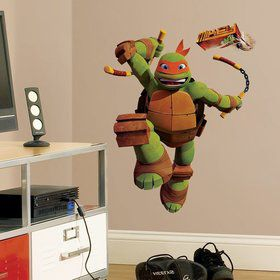 Ninja Turtles Michelangelo Giant Wall Decal (Each)