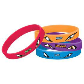 Ninja Turtles Rubber Bracelets (6)