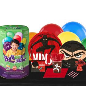 Ninja Warrior 16 Guest Kit with Tableware and Helium Kit