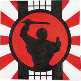 Ninja Warrior Beverage Napkins (16 Count)
