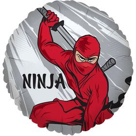 Ninja Warrior Party Foil Balloon