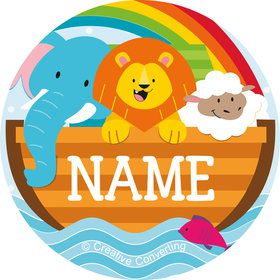 Noah's Ark Personalized Mini Stickers (Sheet of 24)