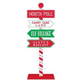 North Pole Direction Sign