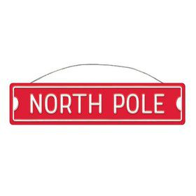 North Pole Street Metal Sign