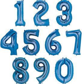 Mylar Blue Number Balloons (each)