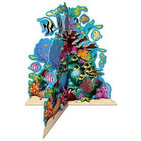 "Ocean Coral Reef 3-D Centerpiece 10"" (Each)"