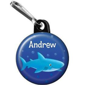 Ocean Friends - Shark Personalized Mini Zipper Pull (each)