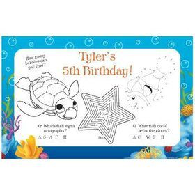 Ocean Party Personalized Activity Mats (8-pack)
