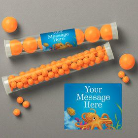Ocean Party Personalized Candy Tubes (12 Count)